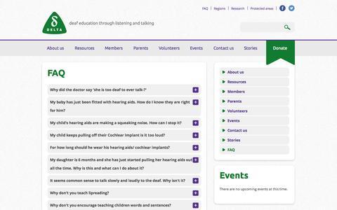 Screenshot of FAQ Page deafeducation.org.uk - FAQ   Deaf Education - captured Oct. 5, 2014