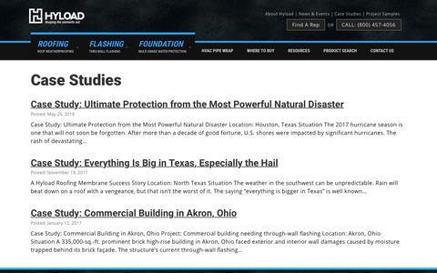 Screenshot of Case Studies Page hyload.com - Case Studies - captured Nov. 5, 2018