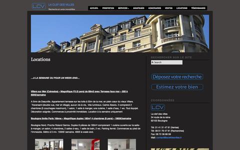 Screenshot of Locations Page laclefdesvilles.fr - agence immobilière boulogne  | La clef des villes - captured Sept. 26, 2014