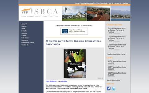Screenshot of Home Page sbcontractors.org - Santa Barbara Contractors Association - captured Oct. 4, 2014