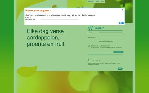 Screenshot of Login Page vangeldernederland.nl - Inloggen –Van Gelder - captured Nov. 1, 2014