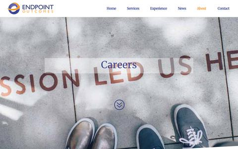 Screenshot of Jobs Page endpointoutcomes.com - Careers - Endpoint Outcomes - captured July 19, 2018