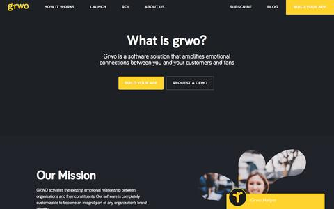 Screenshot of About Page grwo.co - Grwo | It's How People Love Your Brand - captured April 18, 2018