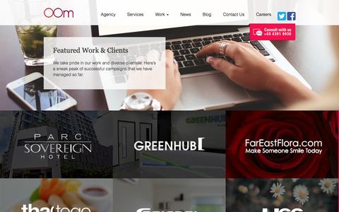 Screenshot of Case Studies Page oom.com.sg - Search Engine Marketing Singapore | Work | OOM - captured Nov. 1, 2014