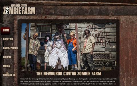 Screenshot of Home Page zombiefarm.net - Newburgh Civitan Zombie Farm - captured June 14, 2016