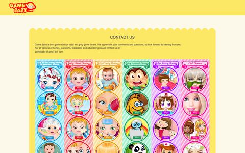 Screenshot of Contact Page gamebaby.com - Game Sets - Contact Site - captured Oct. 29, 2014