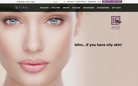 Screenshot of Login Page blincinc.com - blinc -  Home - captured Nov. 3, 2014