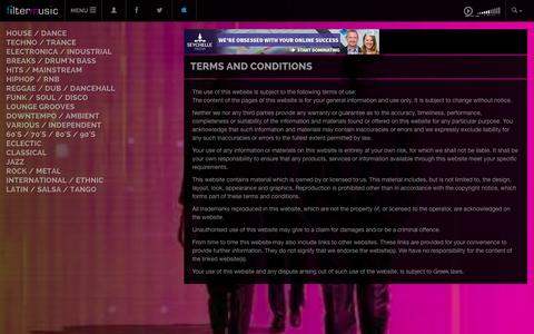 Screenshot of Terms Page filtermusic.net - Terms and conditions | filtermusic - captured Oct. 31, 2014