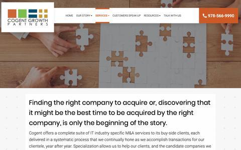 Screenshot of Services Page cogentgrowthpartners.com - Services - Woodstock, Alpharetta, Roswell | Cogent Growth Partners, LLC - captured Dec. 15, 2018