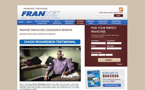 Screenshot of Testimonials Page frannet.com - Franchise Consultant Reviews - FranNet - Local. Trusted Franchisee Experts - captured March 3, 2017