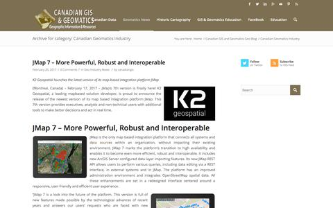 Canadian Geomatics Industry – Canadian GIS & Geomatics