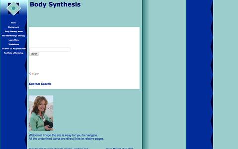 Screenshot of Home Page bodysynthesis.com - Evenflow Body Therapy - captured Sept. 30, 2014