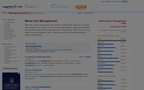 Screenshot of Team Page workcircle.co.uk - Management jobs | Workcircle UK - captured Sept. 23, 2014