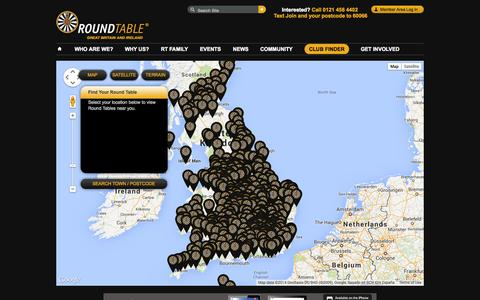 Screenshot of Locations Page roundtable.co.uk - Club Finder | Round Table - captured Sept. 18, 2014