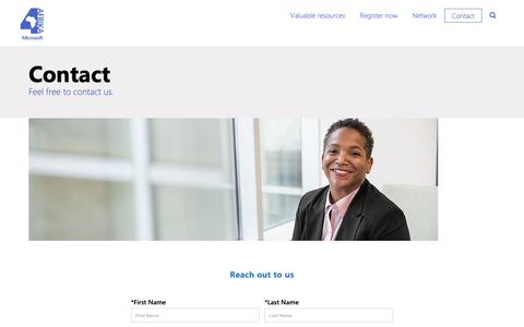 Screenshot of Contact Page microsoft.com - Contact - captured Oct. 22, 2018