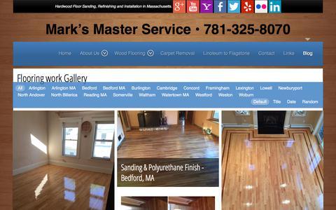 Screenshot of Blog marksmasterservice.com - Flooring work Gallery | Mark's Master Service - captured July 28, 2018