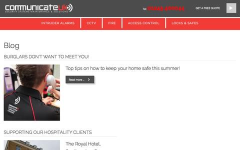 Screenshot of Blog communicateuk.co.uk - Blog - Communicate UK - captured July 20, 2018