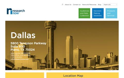 Screenshot of Locations Page researchnow.com - Contact Information | Research Now Dallas, TX - captured Nov. 26, 2016