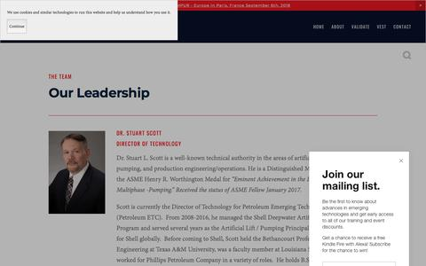 Screenshot of Team Page petroleumetc.com - Petroleum ETC: An industry think tank - captured July 17, 2018