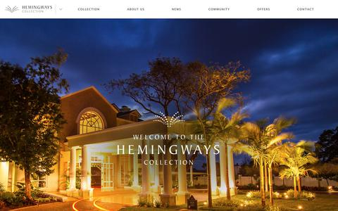 Screenshot of Home Page hemingways-collection.com - Hemingways Collection | Best Luxury Hotels and Camp in Kenya - captured July 18, 2018