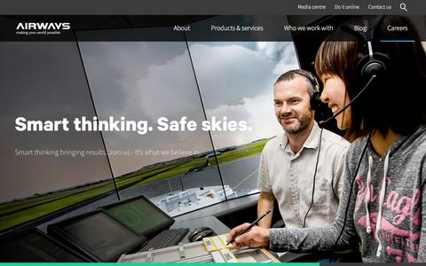 Screenshot of Jobs Page airways.co.nz - Airways | Aviation careers and employment opportunities - captured Feb. 5, 2016