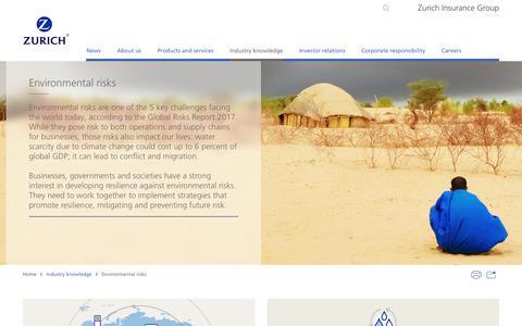 Environmental risks | Topic | Zurich Insurance