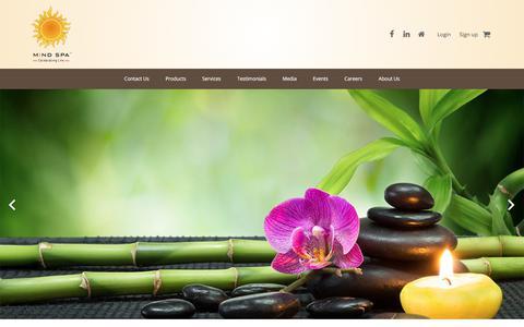 Screenshot of Home Page themindspa.in - Aura Reading, Chakra Balancing Mumbai, Healing Meditation India - Mind Spa - captured Dec. 10, 2017