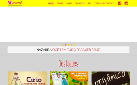 Screenshot of Home Page gruponazare.com.br - Grupo Nazaré            Home | Só mais um site WordPress - captured Oct. 10, 2015