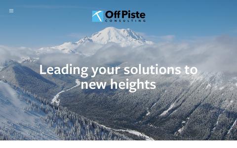 Screenshot of Home Page offpisteconsulting.com - OffPiste Consulting - captured Oct. 19, 2018