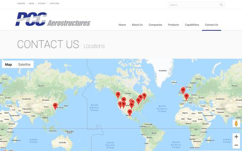 Screenshot of Locations Page noranco.com - Locations | PCC Aerostructures - captured Oct. 4, 2018
