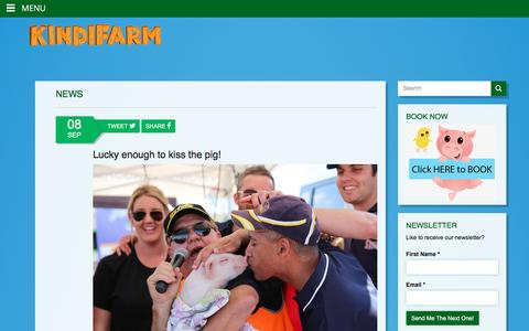 Screenshot of Press Page kindifarm.com - News - Mobile Animal Farm Sydney - Petting Zoo Hire | Kindifarm.com - captured Jan. 9, 2016