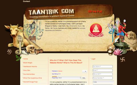 Screenshot of About Page taantrik.com - About us - captured Feb. 29, 2016