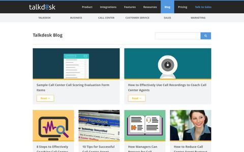 Screenshot of Blog talkdesk.com captured Sept. 19, 2014