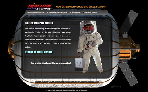 Screenshot of Jobs Page bigelowaerospace.com - Bigelow Aerospace - captured Sept. 23, 2014