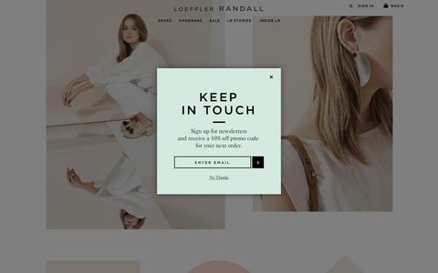 Screenshot of Home Page loefflerrandall.com - Loeffler Randall |  Designer Shoes & Handbags - captured July 16, 2016