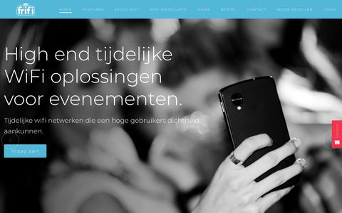 Screenshot of Home Page frifi.com - FriFi | Betaalbare en eenvoudige wifi oplossingen - captured Oct. 11, 2018