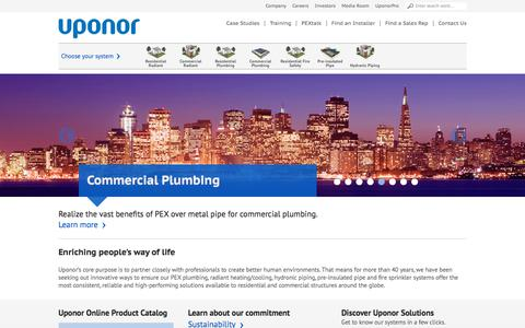 PEX Plumbing, Radiant Heating, and Cooling Tubing Solutions  - Uponor