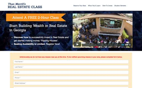 Screenshot of Landing Page fortunebuilders.com - Than Merrill's Real Estate Class - captured Sept. 2, 2016