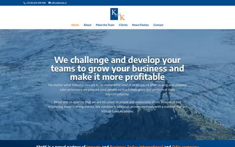 Screenshot of Home Page ktotk.nl - Home - KtotK - captured Oct. 16, 2018
