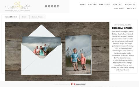 Screenshot of Products Page snappshotphotography.com - Products - Oak Island NC Photographer : Snapp-Shot Photography - captured Feb. 17, 2016