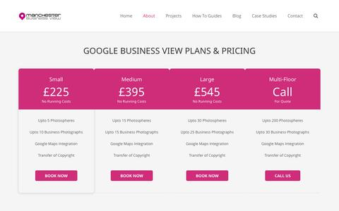 Screenshot of Pricing Page manchesterbusinessview.co.uk - Google Business View Pricing | Manchester Business View - captured Oct. 9, 2014