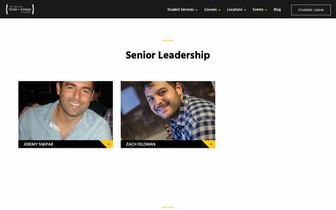 Screenshot of Team Page nycda.com - Team | NYCDA - captured Nov. 11, 2018