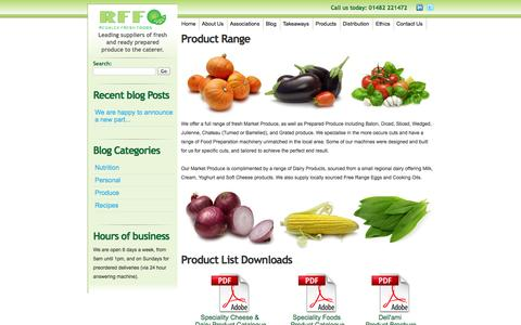 Screenshot of Products Page regalex.co.uk - Regalex Fresh Foods - Product Range - captured Oct. 7, 2014