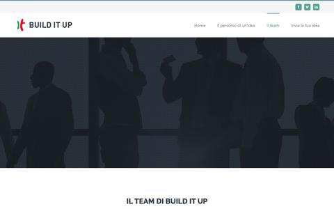 Screenshot of Team Page builditup.it - Build It Up | Ogni idea  una grande impresa -   Il team - captured Jan. 7, 2016