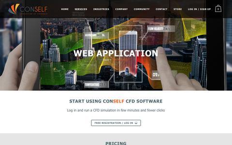 Screenshot of Pricing Page conself.com - CONSELF |   Web Application - captured Dec. 6, 2015