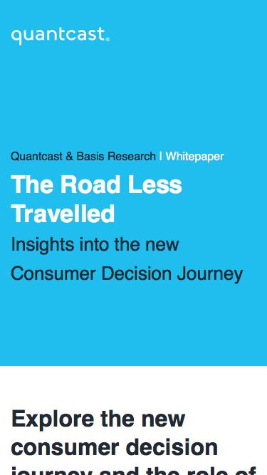 Quantcast Whitepaper | The Road Less Travelled