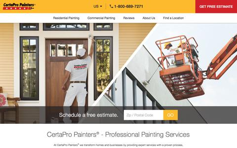 Screenshot of Home Page certapro.com - Professional Painters - Painting Contractors - CertaPro Painters® - captured July 16, 2018