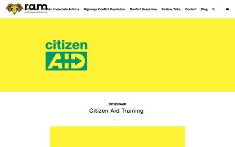 Screenshot of Blog ramtraining.co.uk - Citizen Aid Training Blog - Ram Training Professional Development Ltd. - captured Nov. 4, 2017