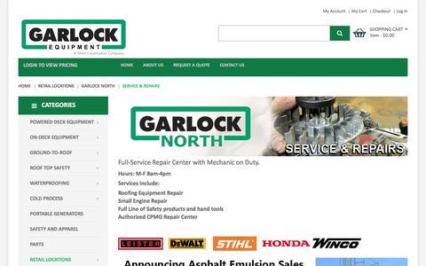 Screenshot of Services Page garlockequip.com - Service & Repairs   Garlock Equipment Company - captured Oct. 27, 2016