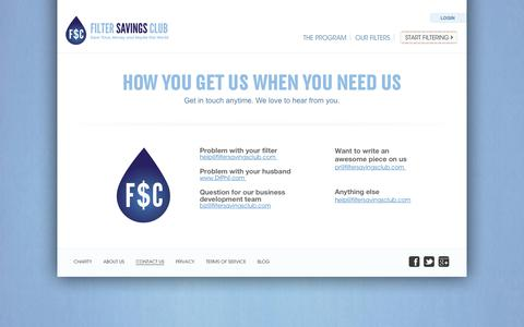 Screenshot of Contact Page filtersavingsclub.com - Contact Filter Savings Club - captured June 5, 2017